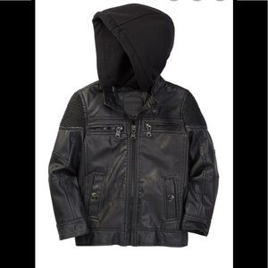 Urban Republic  Faux leather Hooded jacket